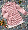 Платье-рубашка в полосочку для девочки  р. 116-134, терракотовый