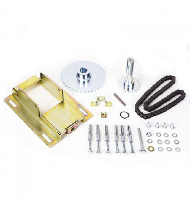 Комплект аксесуарів Faac для ланцюгової передачі з зміщеною тяговою віссю і передавальним відношенням 1:1,5