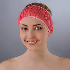 Повязка для волос одноразовая из спанбонда Doily 10 шт. (Цвета в ассортименте)