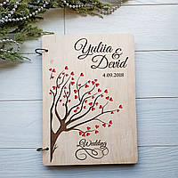 Деревянный альбом для пожеланий «Влюбленные», фото 1