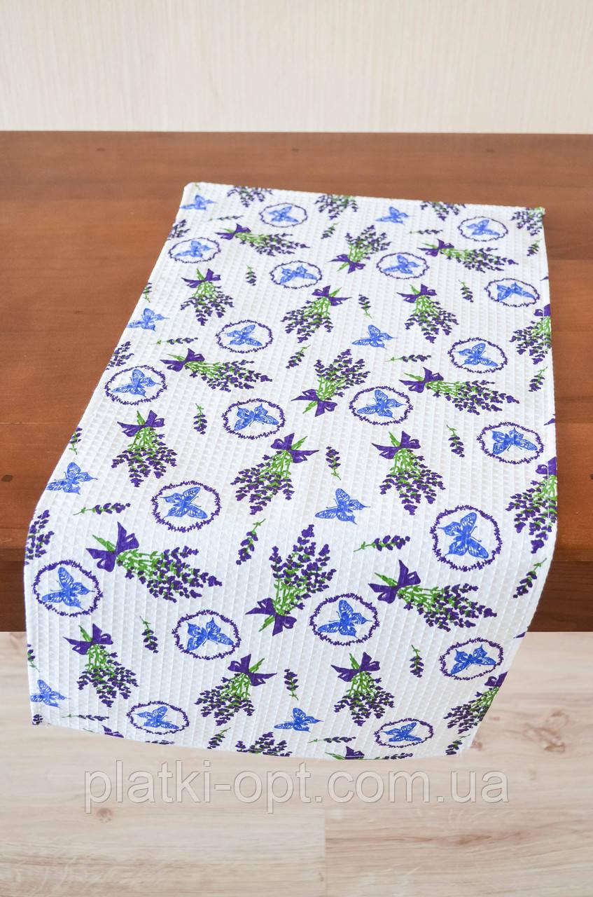 """Полотенце вафельное маленькое """"Лаванда"""" Узбекистан (от 10 штук)"""