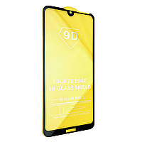 Защитное стекло DK-Case 9D купол для Huawei Y7 (2019) (black)