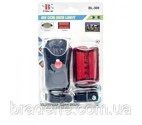 Набор велосипедных фонарей X-Balog BL 308 5W COB