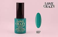 Гель лак LOVE CRAZY 12 мл. #027 (бирюзовый)