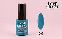 Гель лак LOVE CRAZY 12 мл. #060 (синий)