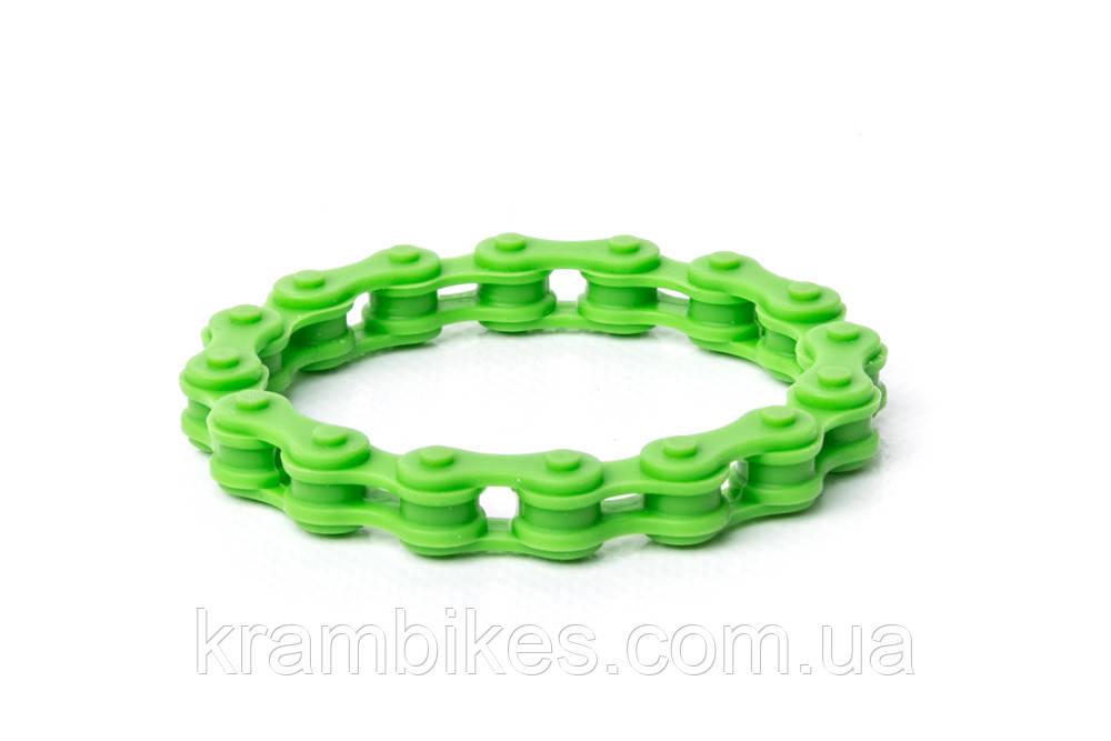 Браслет цепь Зелёный