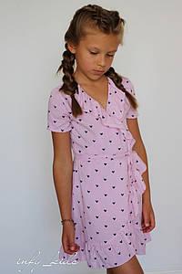 Детское платье на запах с рюшами в расцветках. ЛИ-27-0419