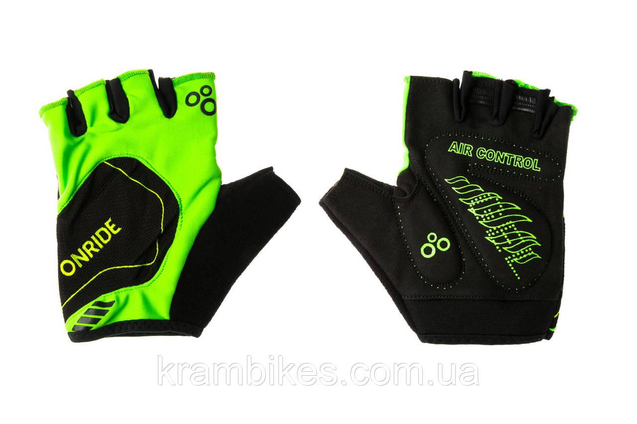 Перчатки OnRide - Catch Зелёный/Чёрный XXL