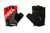 Перчатки OnRide - Hold Серый/Красный S