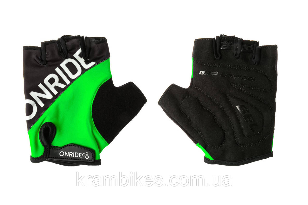 Перчатки OnRide - Hold Чёрный/Зелёный XXL