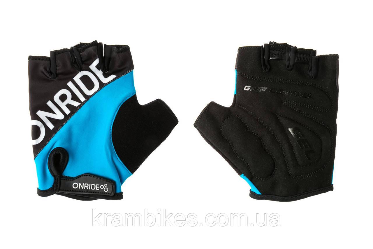 Перчатки OnRide - Hold Чёрный/Синий M