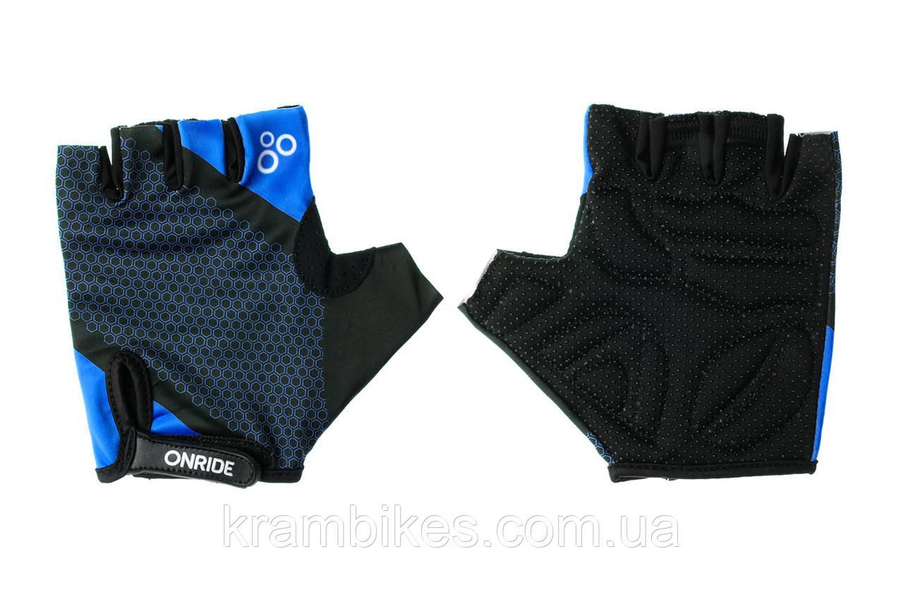 Перчатки OnRide - TID Синий/Чёрный S