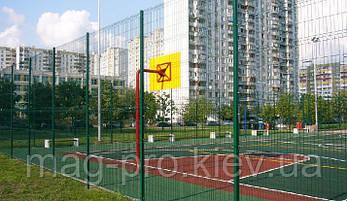 Ограждение спортивных площадок (2 м. длинная сторона и 4 м. короткая) для баскетбола 15х28, фото 2