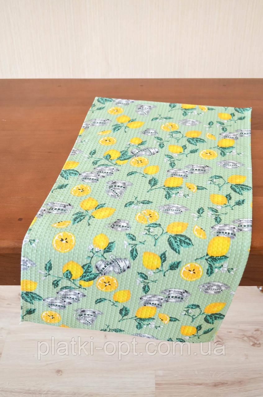 """Полотенце вафельное большое """"Лимон"""" Узбекистан"""
