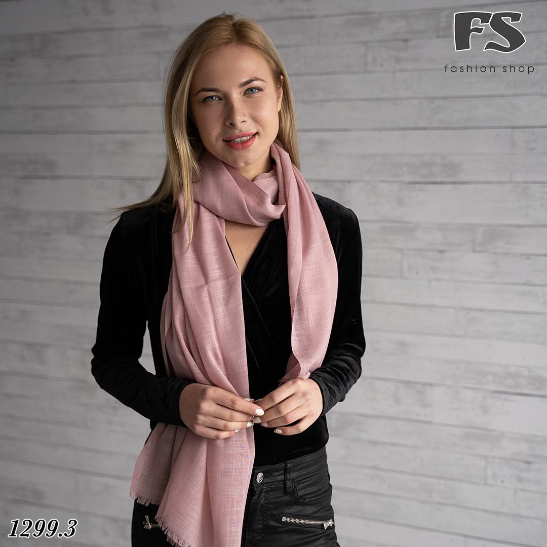 Легкий рожевий стильний шарф Моллі
