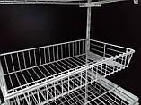 Кронштейн полкодержатели 306мм для монтажа сетчатой полки или корзины в гардеробной системе хранения Украине, фото 6