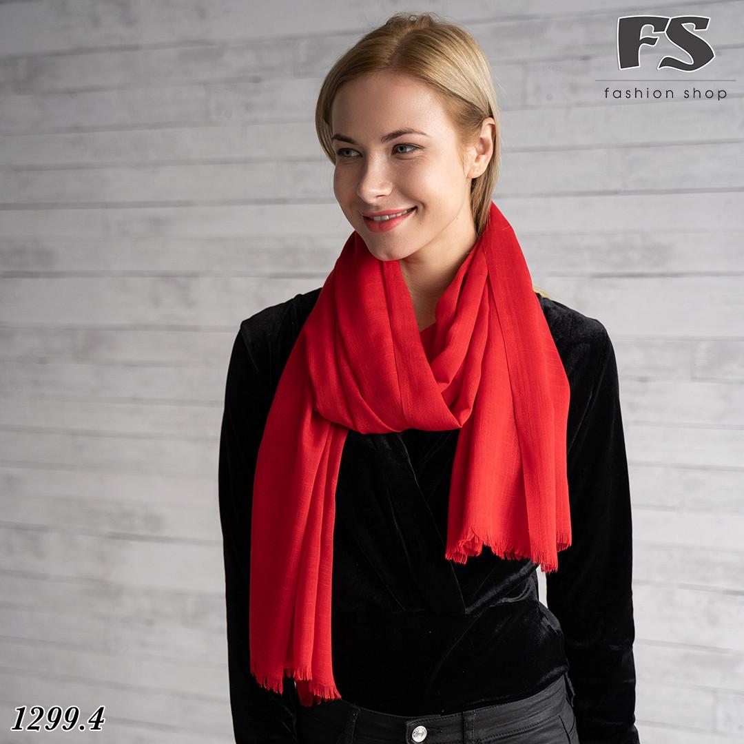 Легкий червоний стильний шарф Моллі
