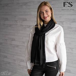 Легкий  чорний  стильний шарф Моллі