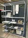 Кронштейн полкодержатели 306мм для монтажа сетчатой полки или корзины в гардеробной системе хранения Украине, фото 7