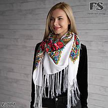 Українська народна шерстяна хустина Квіти України, фото 3