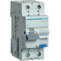 Дифференциальный автоматический выключатель 1+N 32A 30 mA тип А AD982J Hager