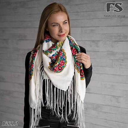 Українська народна шерстяна хустина Квіти України , фото 2