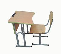 Одноместный регулируемый комплект ученической мебели для начальной школы НУШ (стол + стул)