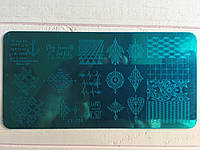Пластина для стемпинга (металлическая) XY-J24