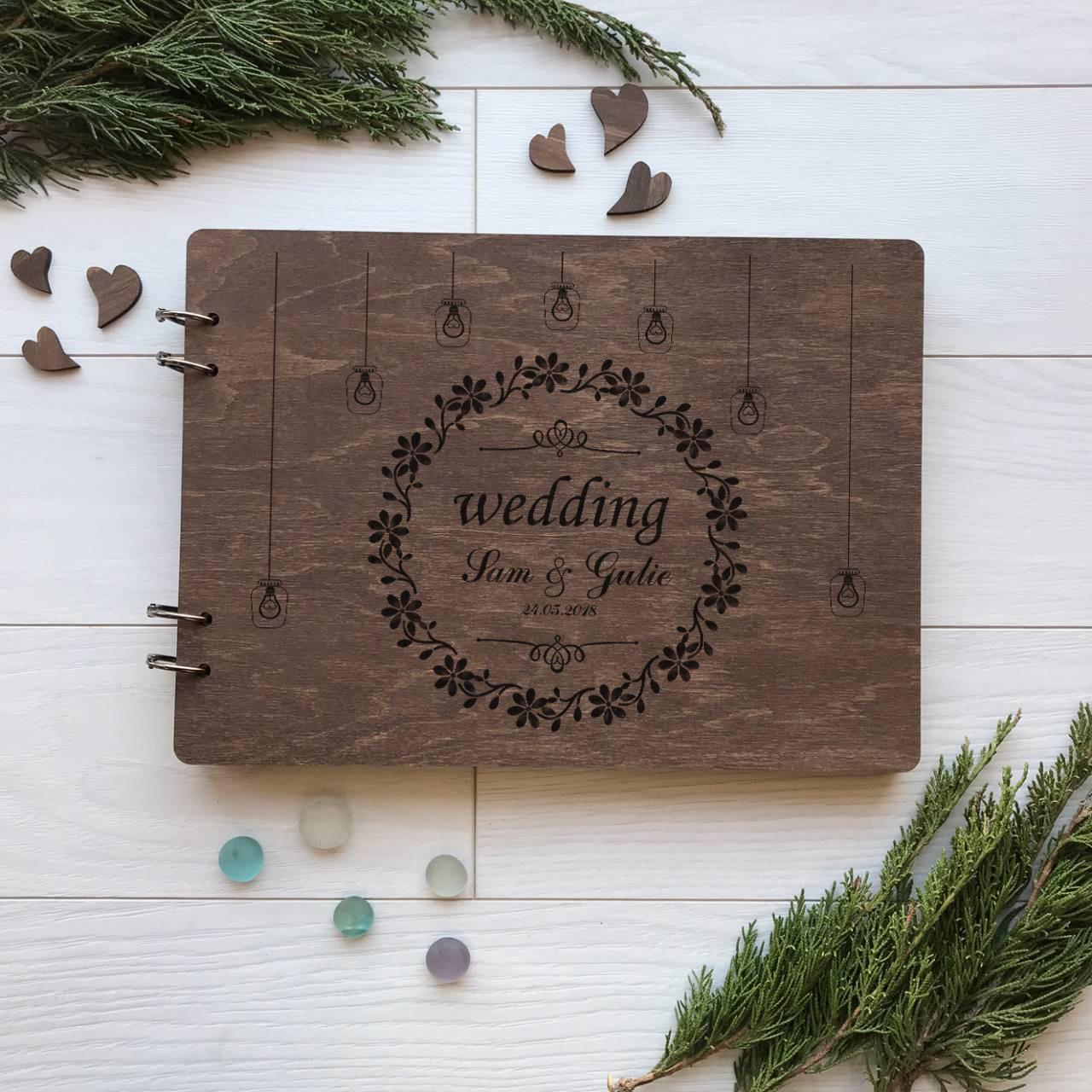 Альбом свадебный ручной работы для пожеланий