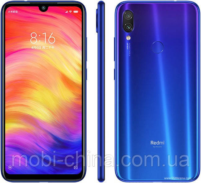 Смартфон Xiaomi Redmi Note 7 4 64GB Neptune blue  EU
