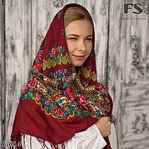 Українська народна шерстяна  хустина Квіти України!, фото 3