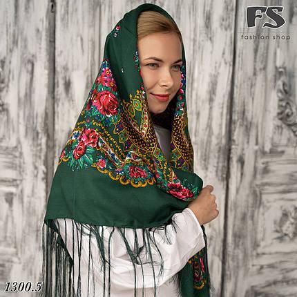 Українська народна шерстяна хустина Квіти України!  , фото 2