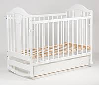 Детская кроватка «НАПОЛЕОН» с Ящиками ( Белая ), фото 1
