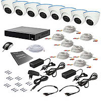 Комплект видеонаблюдения на 8 камер Tecsar AHD 8IN 2MEGA