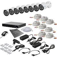 Комплект видеонаблюдения на 8 камер Tecsar AHD 8OUT 2MEGA