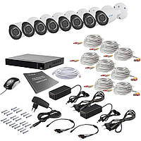 Комплект відеоспостереження на 8 камер Tecsar AHD 8OUT 2MEGA, фото 1