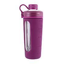 Спортивная бутылка-шейкер BlenderBottle Radian Glass Purple (скло )820мл (ORIGINAL), фото 3