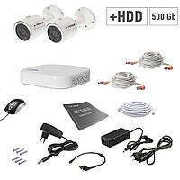 Комплект видеонаблюдения Tecsar 2OUT+500ГБ HDD, фото 1