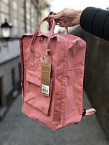 Рюкзак в стиле Fjallraven Re- Kanken Classic розовый, фото 3