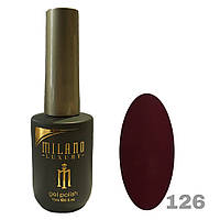 Гель-лак Milano Luxury 15ml. №126 (бордовый)