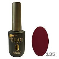 Гель-лак Milano Luxury 15ml. №135 (бордовый)