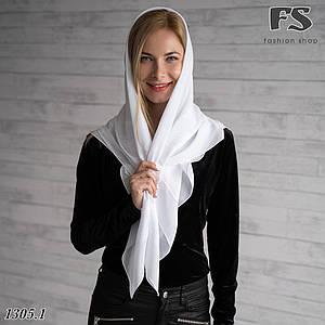Белый  платок свадебный Ирис