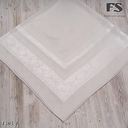 Белый  платок свадебный Ирис, фото 2