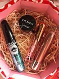 Хайлайтер  + Помада для бровей + Помада жидкая водостойкая Lip Gloss + Тушь Karite Промо набор №0020, фото 2