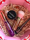 Хайлайтер  + Помада для бровей + Помада жидкая водостойкая Lip Gloss + Тушь Karite Промо набор №0020, фото 6