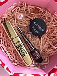 Хайлайтер  + Помада для бровей + Помада жидкая водостойкая Lip Gloss + Тушь Karite Промо набор №0020, фото 7