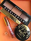 Румяна для лица Ushas + Тушь для ресниц объемная + Пудра Ushas HD Промо набор №0045, фото 3