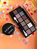 Тени Ushas 12 color  + Помада для бровей Anylady + Кисть для бровей tarte Gold Промо набор №0053, фото 2