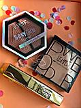 Тени Ushas 12 color  + Помада для бровей Anylady + Кисть для бровей tarte Gold Промо набор №0053, фото 7