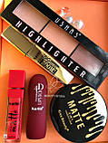 Помада жидкая водостойкая Lip Gloss  + Пудра Kiss Beauty 2in1 Matte №0058, фото 8